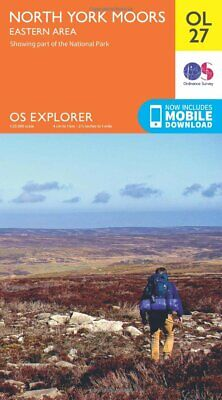 NEW Explorer OL27 North York Moors Eastern Area Map With Digital Version UK FAST
