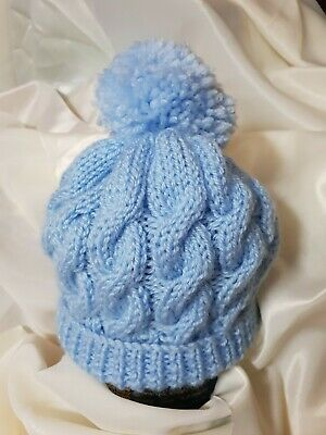 Hand knitted baby boy hats