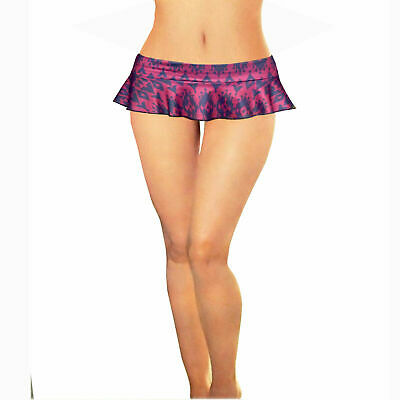 Ladies girls sexy printed 6 inch 15 cms micro mini skater skirt size 6 to 16 P1
