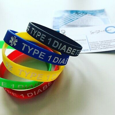 Type 1 Diabetes Awareness Medical Alert Silicone Bracelet