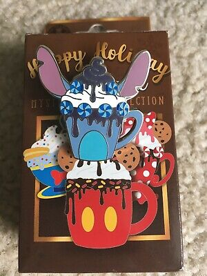 Disney Parks Pin Happy Holiday Hot Cocoa Pin Mystery Box STITCH