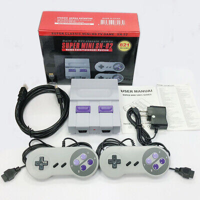 HDMI SUPER NES Classic Edition Console Retro 821 Games Built-in Kids Xmas Gift