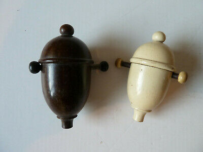 Pair Of Vintage Wooden Switches