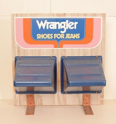 Vtg Wrangler 60s 70s Store Display Shoes for Jeans Boots Shelves Western Wear