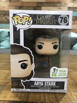 Funko Pop 76 Arya Stark ECCC Con Sticker 2019 w/ pop protector