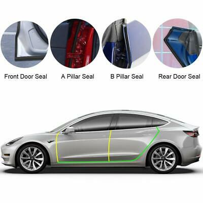uxcell 10 in 1 Rubber Wind Noise Reduction Fin Set Pillar Mirror Black for Car Vehicle