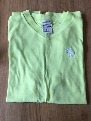 Boys Abercrombie & Fitch T Shirt XL Yellow Muscle 13 14 Years