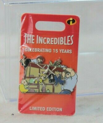 Disney Parks LE 3000 Pin 15th Anniversary Pixar The Incredibles Dinner Table