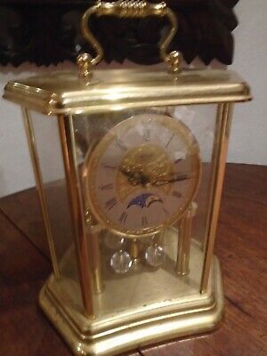 VINTAGE HERMLE WEST GERMAN QUARTZ OSCILLATING PENDULUM CLOCK - needs TLC