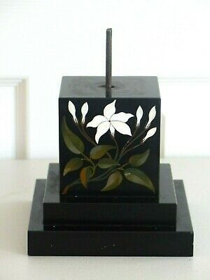 RARE Large Antique Victorian 19th Century Pietra Dura Inlaid – Base / Stand