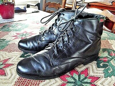 """Bass """"Sade"""" Ladies,Lovely Black Soft Leather,Lace Up Ankle Boots -Size Uk 6,Eu39"""