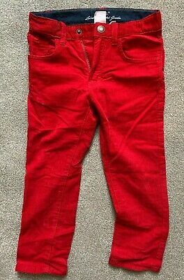 LOGG H&M Red chord Christmas trousers  age: 3 - 4 yrs