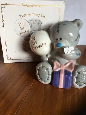 Me to you first  Birthday money box