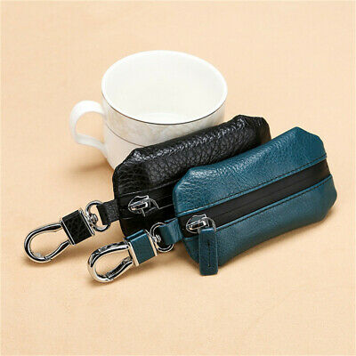 Womens Mens Card Coin Key Holder Zip Faux Leather Wallet Pouch Bag Purse N7