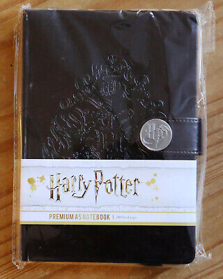 Harry Potter Premium Leather-Look A5 Notebook with Hogwarts Logo