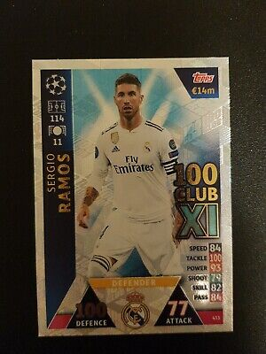 Match Attax Champions League 2018/19 Hundred 100 Club Ramos Real Madrid