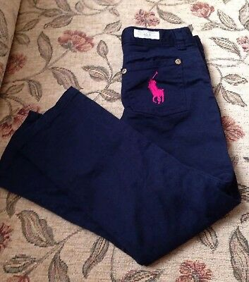 Polo Ralph Lauren Girls navy blue trousers size 6X years