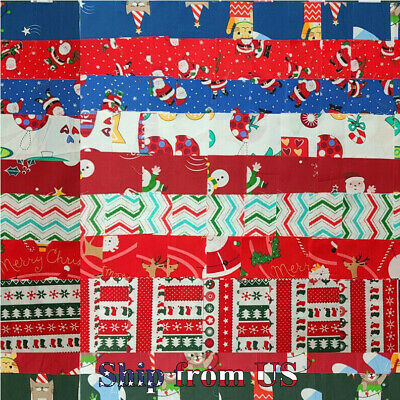 "Christmas Cotton Fabric Decor Charm Pack Lot 100 5"" SQUARES Quilting Pre-cut"