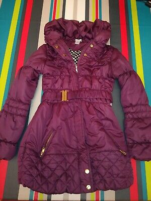 Kylie M&Co Plum Girls padded winter  Coat Size Age  9 Years