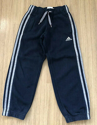 Boys Navy Blue Adidas Jogging Bottoms Age 4-5.