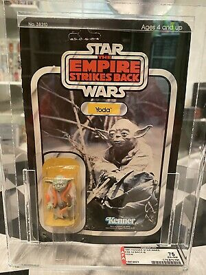 Vintage Star Wars Empire Strikes Back Yoda 32-B AFA 75