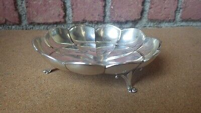 Vintage Wallace Sterling Silver Scalloped 3 Footed Candy Dish Bowl A7 130 Grams