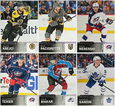 U-Pick 2019-20 Upper Deck Overtime Wave 1 Base, Rookies, Blue Foil, & OT Winners