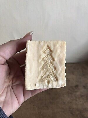 Early Antique Large Thick Chunk OLD Lye Soap Hand Carved Christmas Tree AAFA #2