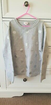 Seed Heritage girls grey spot knitwear jumper size 8-9