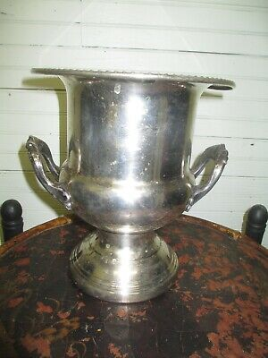 Leonard SilverPlate Champagne Ice Bucket w/Handles classic design heavy bent rim