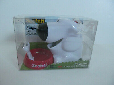 Scotch Magic Tape Dispenser Dog With Food Bowl Fun Christmas Wrapping
