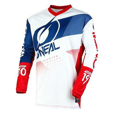 O'Neal Motocross Jersey Element Factor Men's Adult MX Jersey White/Blue/Red