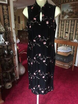 CELIA RYAN DESIGNER BRAND WOMANS SIZE 10 VINTAGE 80'S FORMAL Embroidered DRESS