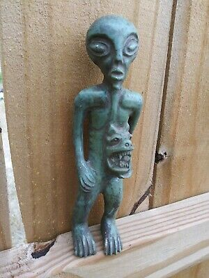 Pre-Columbian Toltec Ancient Alien -Offering Jaguar God Stone Statue TAL02