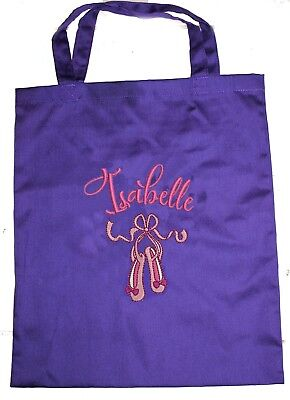 Kids Personalised Double Handled Library Bag - Ballet Shoes - First name FREE