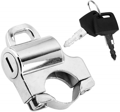 Helmet Lock, 22mm Handlebars Universal Motorcycle Helmet Security Lock Padlock 2