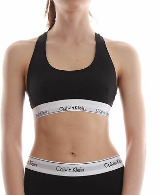 TOP E BODY LOUNGEWEAR Donna CALVIN KLEIN 0000F3785E BRALETTE 001 BLACK