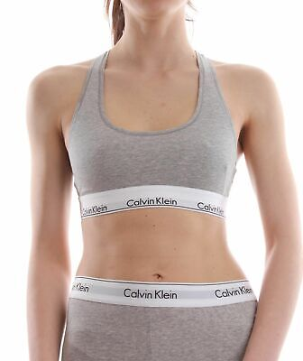 TOP E BODY LOUNGEWEAR Donna CALVIN KLEIN 0000F3785E BRALETTE 020 GREY HEATHER