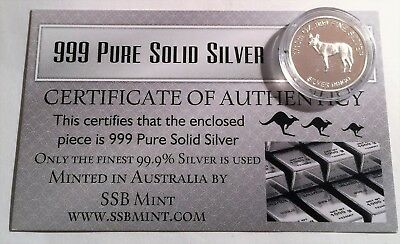 Dingo 1/10th Oz 99.9% Pure Solid Silver Coin, 14 to Collect with C.O.A. Animals