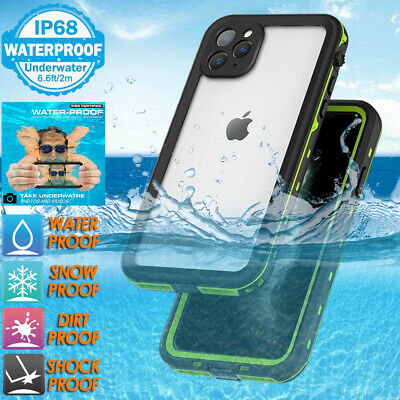 For iPhone 11 Pro Max X XS XR Waterproof Case Cover Clear Transparent FR Series