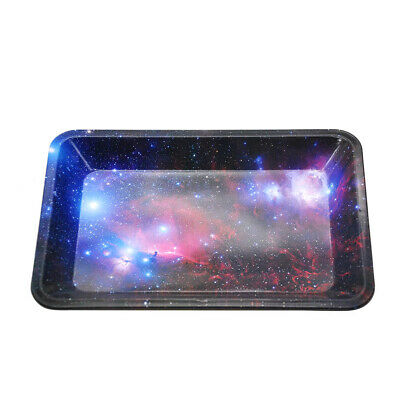 1X Colorful Pattern Metal Rolling Tray 18*12.5cm Tobacco Smoking Accessories