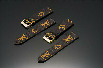 22mm Quick Release Watch Band Strap LV Genuine Leather Universal Wristband