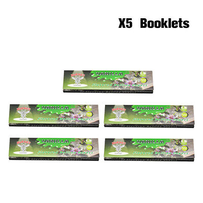 5 Packs HORNET Flavoured Rolling Paper King Size 110MM - (VANILLA)