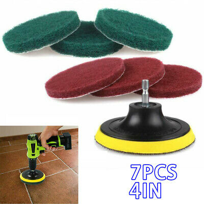 Drill Brush Power Scrubber Scouring Scrub Pad Bathroom Cleaning Tile Tablet 7x