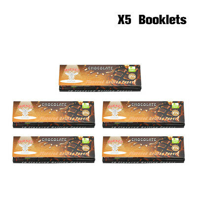5 Packs HORNET Flavoured Rolling Paper King Size 110MM -(CHOCOLATE)