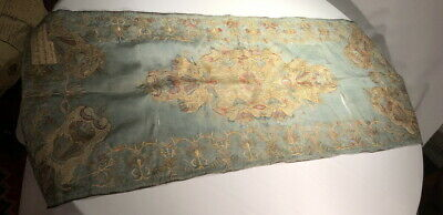 OTTOMAN Turkish Antique SILK Fabric Embroidered Cover Intricately Worked 18th C.
