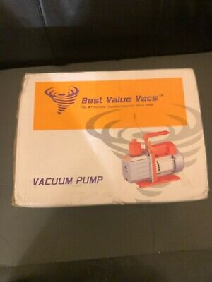 NEW! Best Value Vacs Single Stage 3CFM Vacuum Pump #RS-1 NEW!