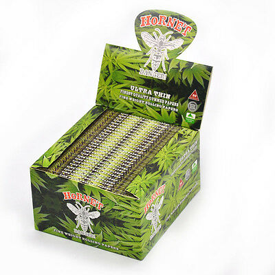 50 booklets Hornet Leaves King Size Tobacco Rolling Papers 1600 Leaves/ boX