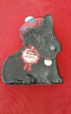 Collectable  Black Scottie (Mac) Biscuit Tin For Walers Shortbread.
