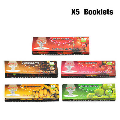 250 Leaves HORNET 78MM Flavored Cigarette Rolling Papers Set 50 Papers Per Pack